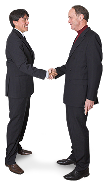 Image of two business men shaking hands